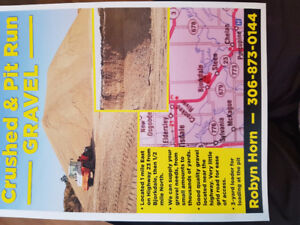 Crush and pit run gravel for sale.