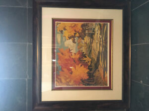 Framed picture of a Fall setting