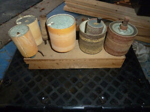 Drum Sander and rolls of emery