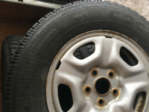 Winter tires and steel rims set of 4