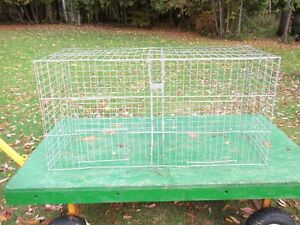 Standard show/training cages for poultry and waterfowl.