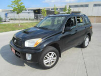 2003 Toyota RAV4, 4WD, 4 DR, Automatic, up to 3 years warranty.