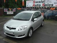 2009 TOYOTA AURIS TR STOPSTART VVTi 1.3L ONLY 35,121 MILES, 1 OWNER FROM NEW