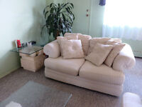 Modern great condition couch set - sofa + love seat
