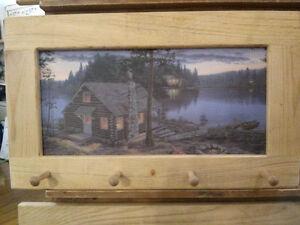 At The Cottage Art Framed Peg-Board