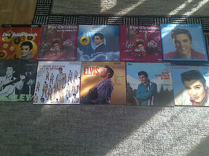 ELVIS PRESLEY VINYL LP COLLECTION SET 1 10 TITLES FANS ONLY!!!