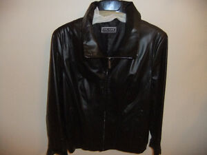 Ladies Gullaume Black Leather jacket (Canadian designer)