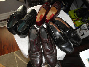4 Used Pair Men's Leather Dress Shoes - Size 8.5
