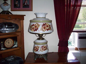 ANTIQUE LARGE HURRICANE LAMP
