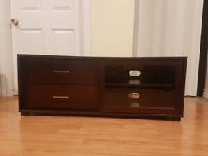 Dark brown tv stand$120.00