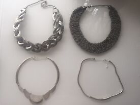Silver theme - statement necklaces