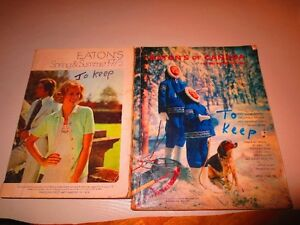 Vintage Eatons 1963 and 1975 catalogs