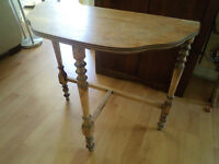 TABLE DEMI LUNE ANTIQUE