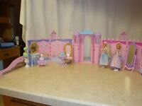 Magical Castle, dolls, pony, and carriage