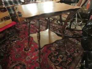 VINTAGE WOODEN TABLE GOOD CONDITION PAINTED TOP