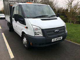2013 63 FORD TRANSIT TIPPER CAGE 2.2TDCI 125BHP EURO 5 350 1 COMPANY OWNER