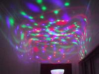 AMPOULE PRISME, ROTATIFS.360`...LEDs multi-couleurs