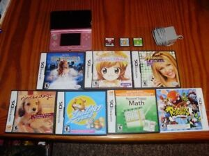 Pink 3DS With 10 Games