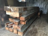 Timber pitch pine red beams.