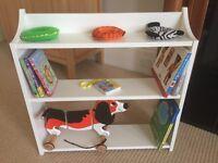 White company wooden book shelf