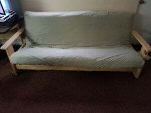 Futon (Double) - Solid Wood with mattress and mattress cover