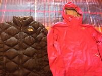 Size M(10-12) girls north face jackets.