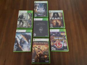 Lot de 7 jeux pour Xbox 360