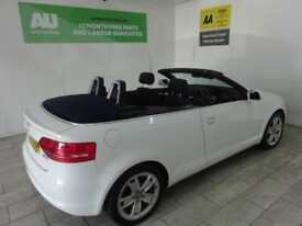 White Audi A3 Cabriolet 1.6TD Sport ***FROM £31 PER WEEK***