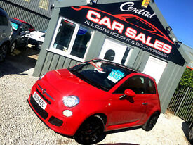 FIAT 500 1.2 ( 69bhp ) ONLY 3K MILES HIGH SPEC LOTS OF EXTRAS FINANCE & PX WELCO