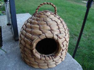 Small Vintage hand woven pet igloo