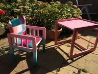 Girls table & chair