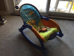 Like new Fisher Price chair rocker with battery operated vibrating ...
