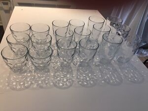 3 sets of 6 drinking glasses each