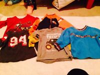 Boys shirts and sweaters