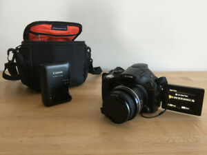 Canon Powershot SX40 HS + Camera Bag - Used Twice