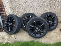 "BLACK 16"" CORSA WHEELS"