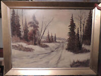 Listed Canadian artist  P.Hyttinen beautiful oil painting