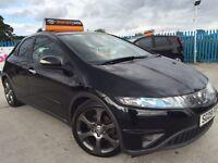 2009 - 09 Honda Civic 2.2 I CTDI - BLACK - MOT MAY 2016 - LEATHER INTERIOR - ALLOYS - FREE WARRANTY