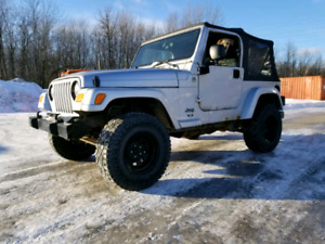 Looking for Jeep TJ for parts Recherche Jeep pour pieces