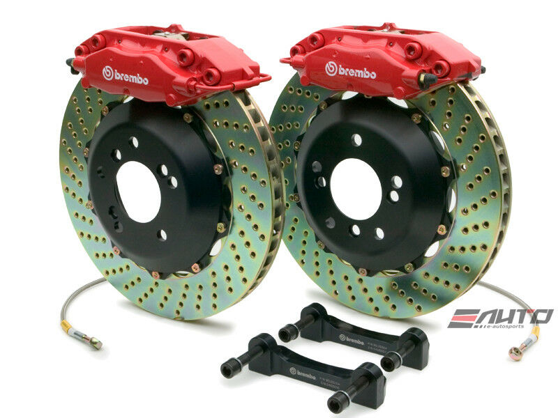 Brembo Front Gt Big Brake 4pot Caliper Red 320x28 Drill Disc Mini R50 R52 R53