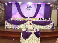 Markham Wedding Backdrops, Markham Centerpieces & Flowers