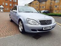 MERCEDES S CLASS S320 CDI AUTO, 2003 PLATE, TOP OF THE RANGE, BEST COLOUR, GREAT CAR.