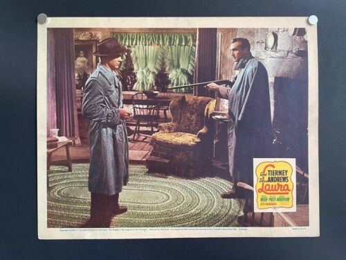 LAURA ORIGINAL LOBBY CARD Tierney Webb Andrews Price Classic *Hollywood Posters*