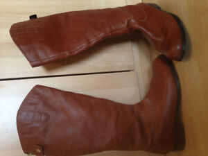 Cognac dress boots