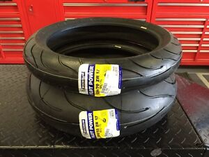 ★★ NEW Michelin Pilot Power Motorcycle Tires 180 / 120 Set ★★