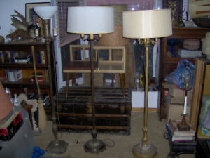 Antique Torchiere and Floor Lamps