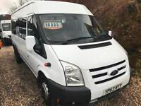 2013 63 FORD TRANSIT 155PSI T430 17 SEATS MINIBUS / LOW RATE FINANCE AVAILABLE