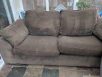 Brown corduroy DFS Sofa
