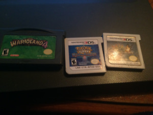 Selling Pokemon Super Mystery Dungeon, MHU 4 and Wario Land 4