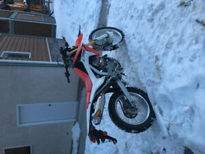 250cc Street legal dual sport Honda FMF exhaust EKG fuel tuner